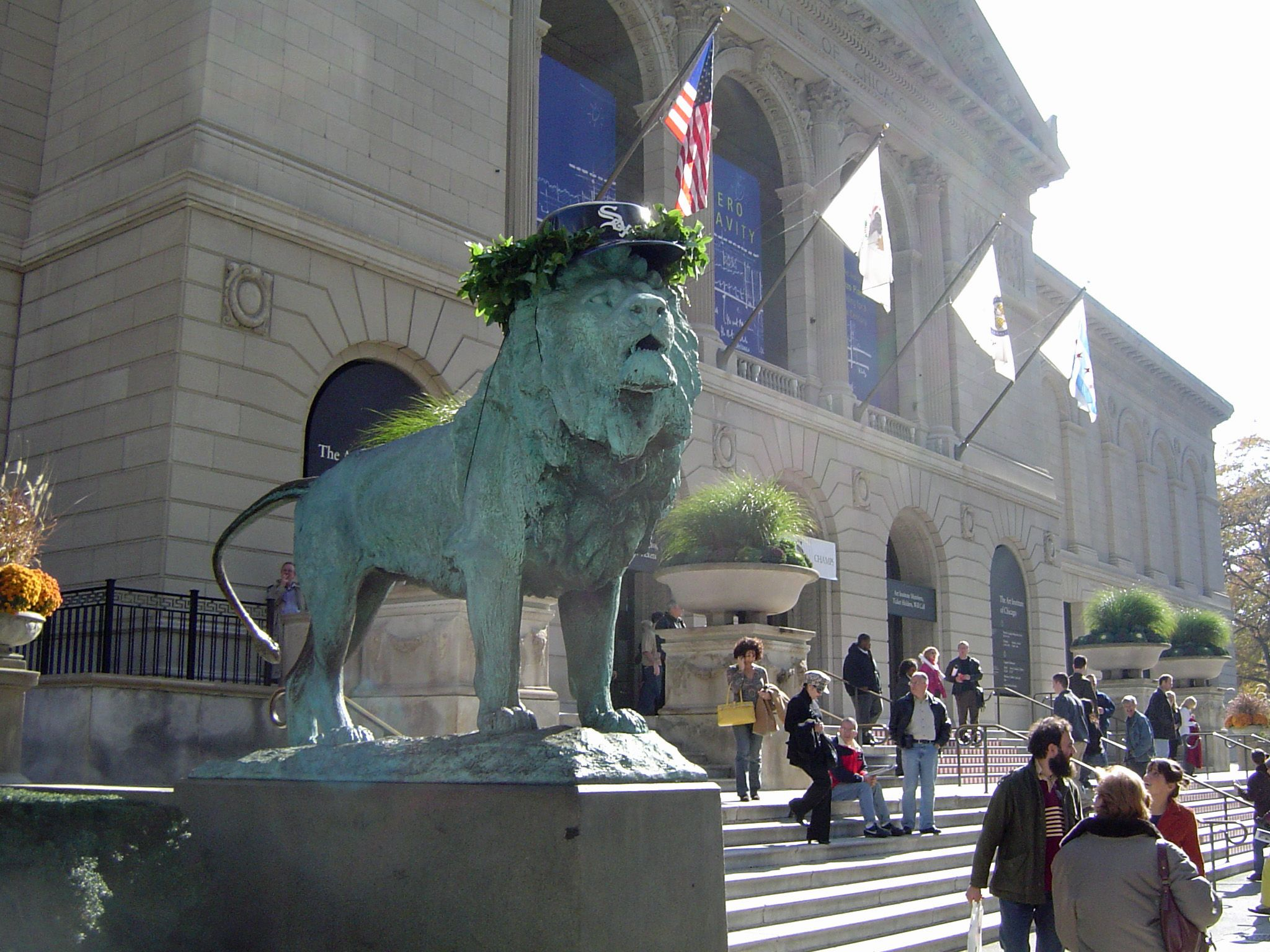 Art-Institute-Lion-during-White-Sox-World-Series-copy