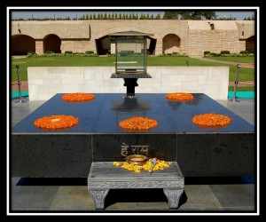 Raj Ghat (Memorial to Gandhi)